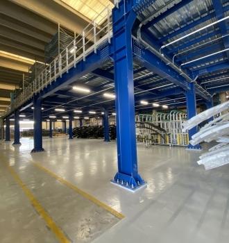 Strutture in acciaio per soppalco sovraccarico 1000 kg/mq